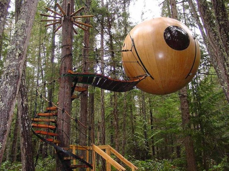 5. Free Spirit Spheres Treehouses, Qualicum Beach, Columbia Británica, Canadá